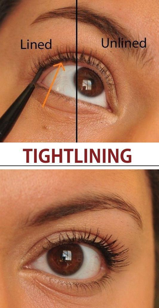 Tightlining, meine Damen. Wie man Eyeliner für ein natürliches Aussehen aufträgt. - Mach #beautytips