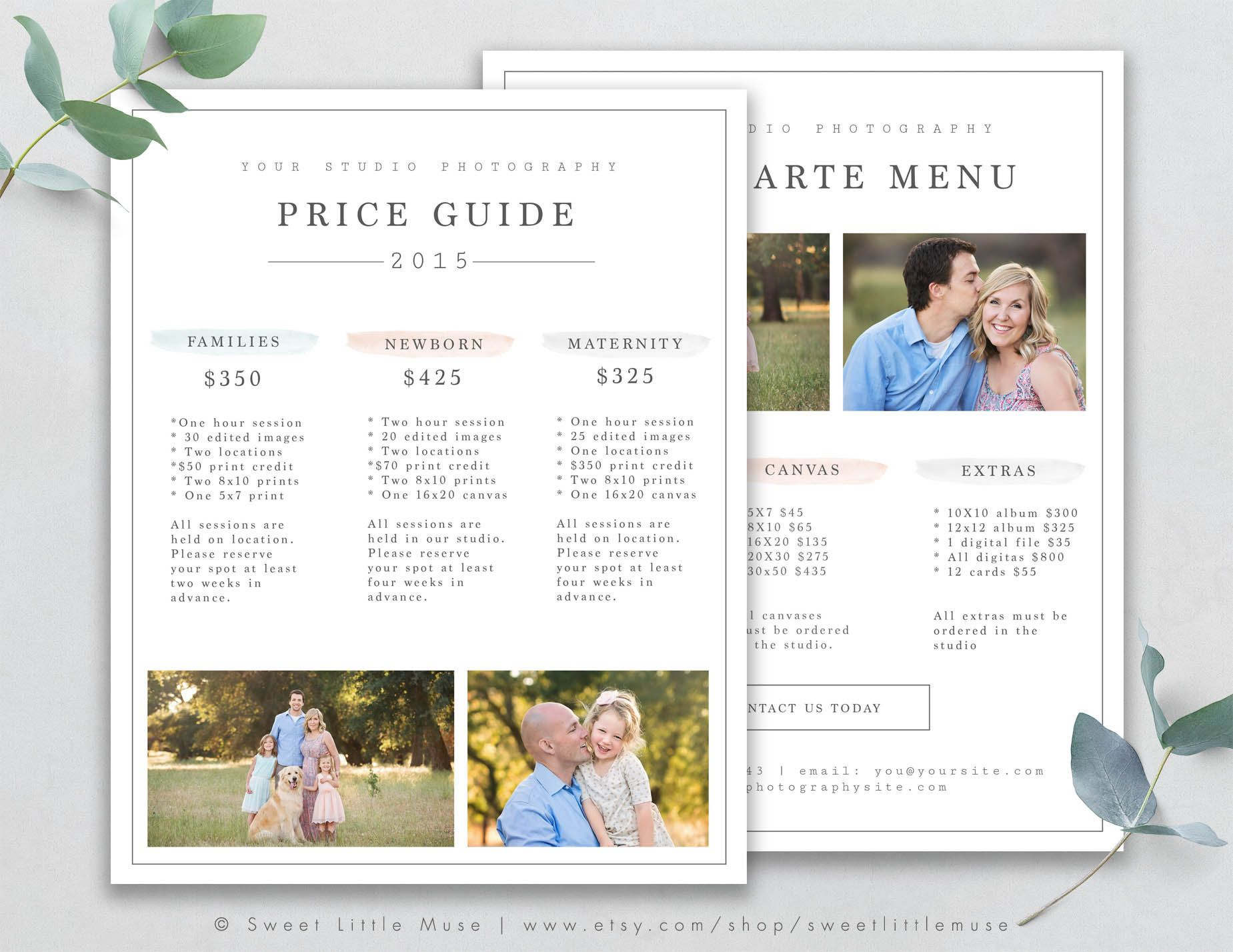 Photography Price List Template Photography Pricing Guide Etsy Photography Price List Template Photography Price List Price List Template