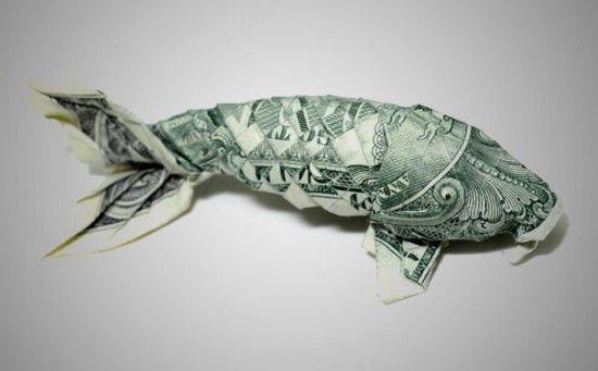 20 Cool Examples Of Dollar Bill Origami Koi Random Pinterest