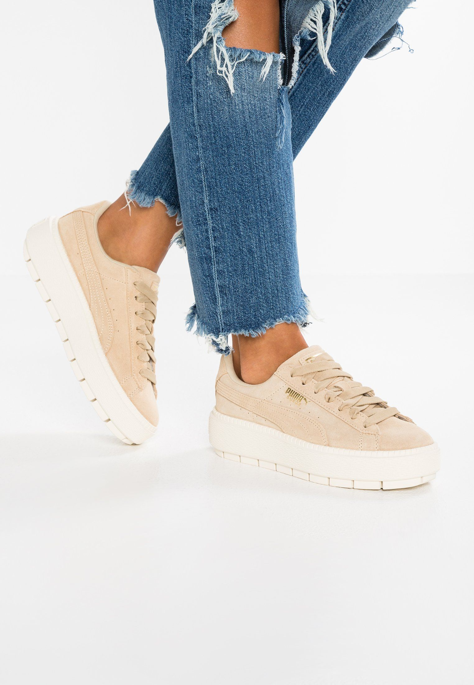 official photos 334bc b1d89 SUEDE PLATFORM TRACE - Sneakers - safari/marshmallow | Want ...