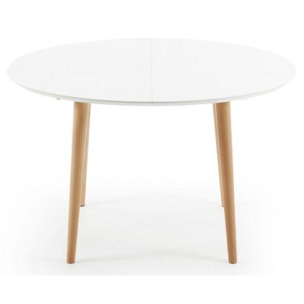 Ausziehbarer Tisch Oqui Mattweiß 120 bis 200 cm Kave