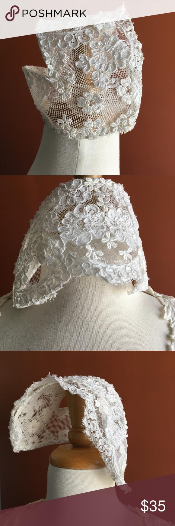 Priscilla of boston wedding dress  VINTAGE PRISCILLA OF BOSTON Veil Headpiece Bridal