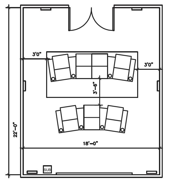 Home Theater Room Size: Theater Seating Diagram