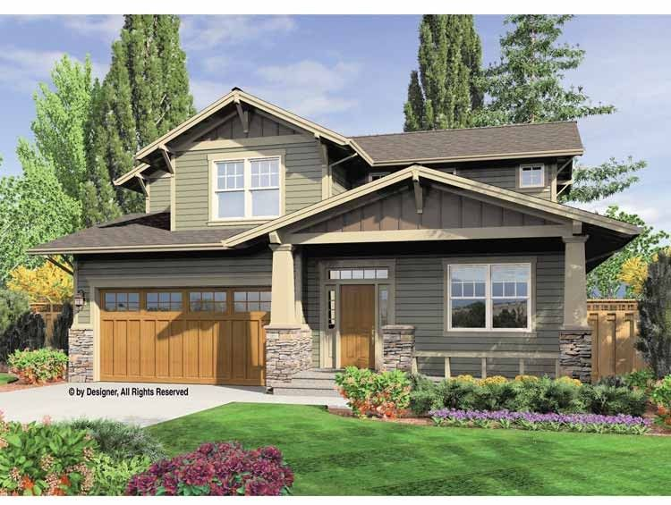 Contemporary-Modern House Plan with 2002 Square Feet and 3 Bedrooms