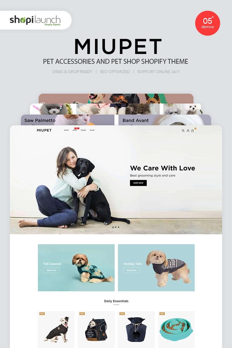Miupet Pet Accessories And Pet Shop Shopify Theme 94295 In 2020 Pet Shop Pet Accessories Pets