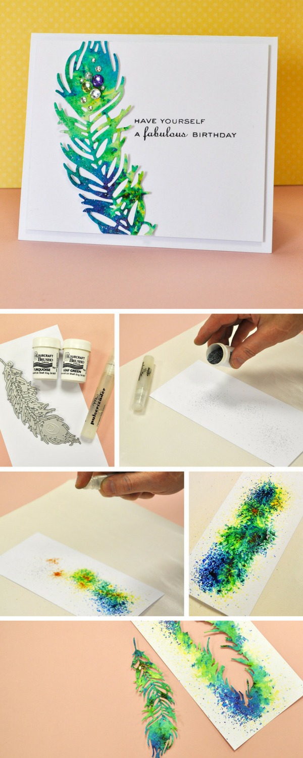 How to make a beautifully handmade peacock card using sizzix dies