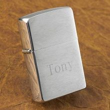 Engraved Zippo Brushed Chrome Lighters