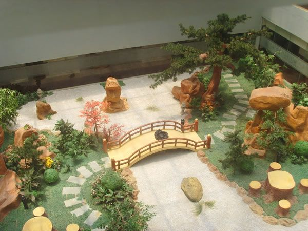 garden designs with fake plants - Google Search