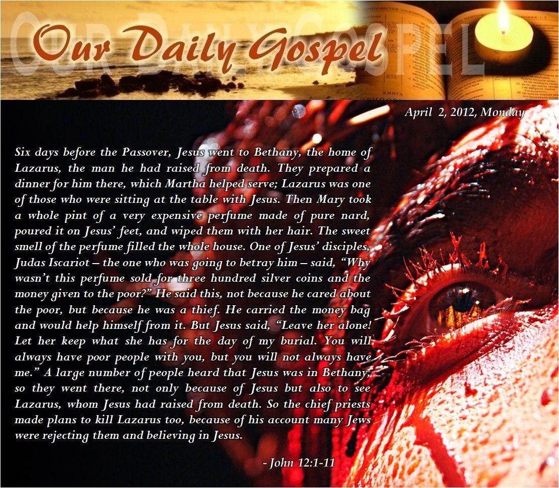 Monday of Holy Week pinterest lent holyweek Readings