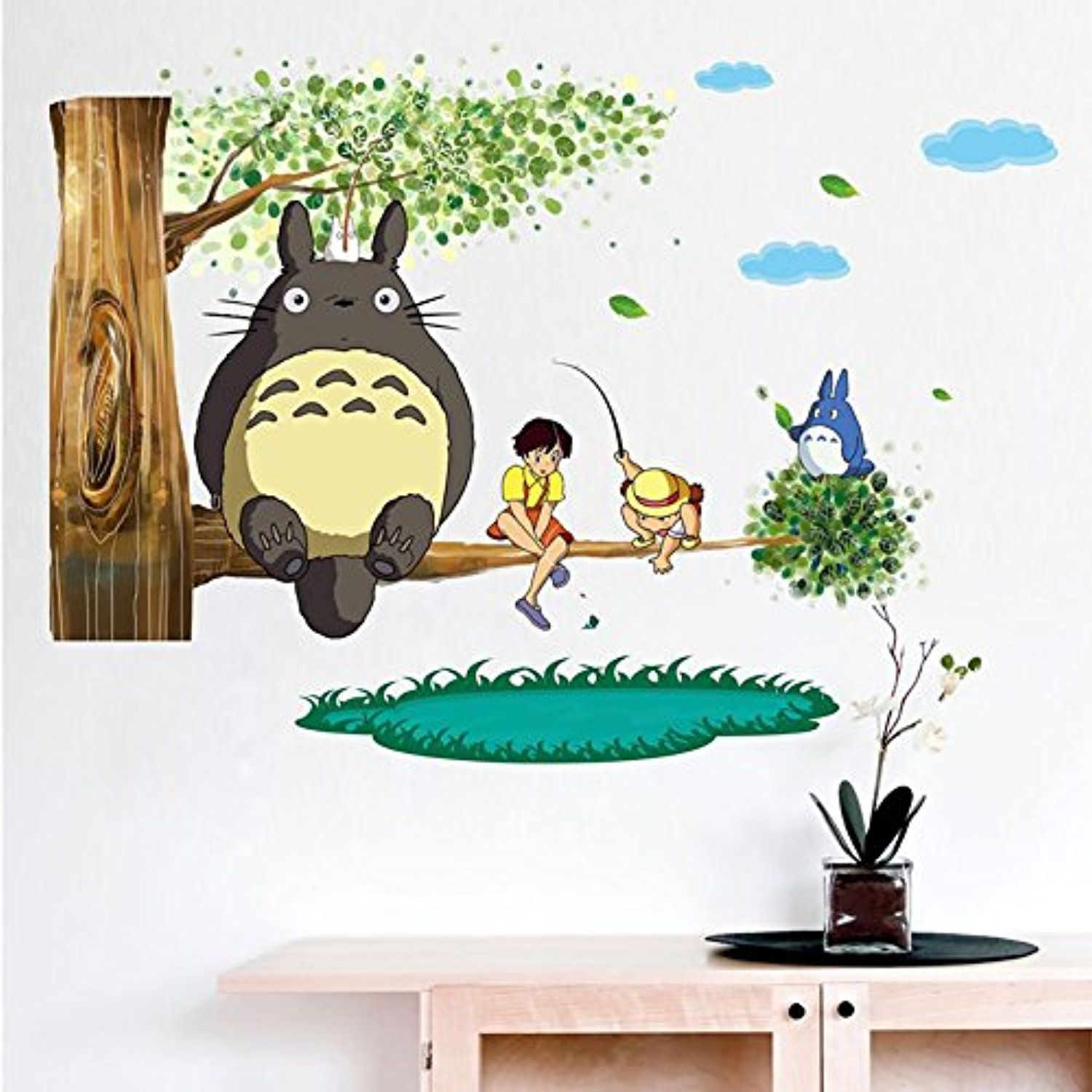 Déco Murale Diy My Neighbor Totoro Wall Decals Stickers By Jiquan Removable