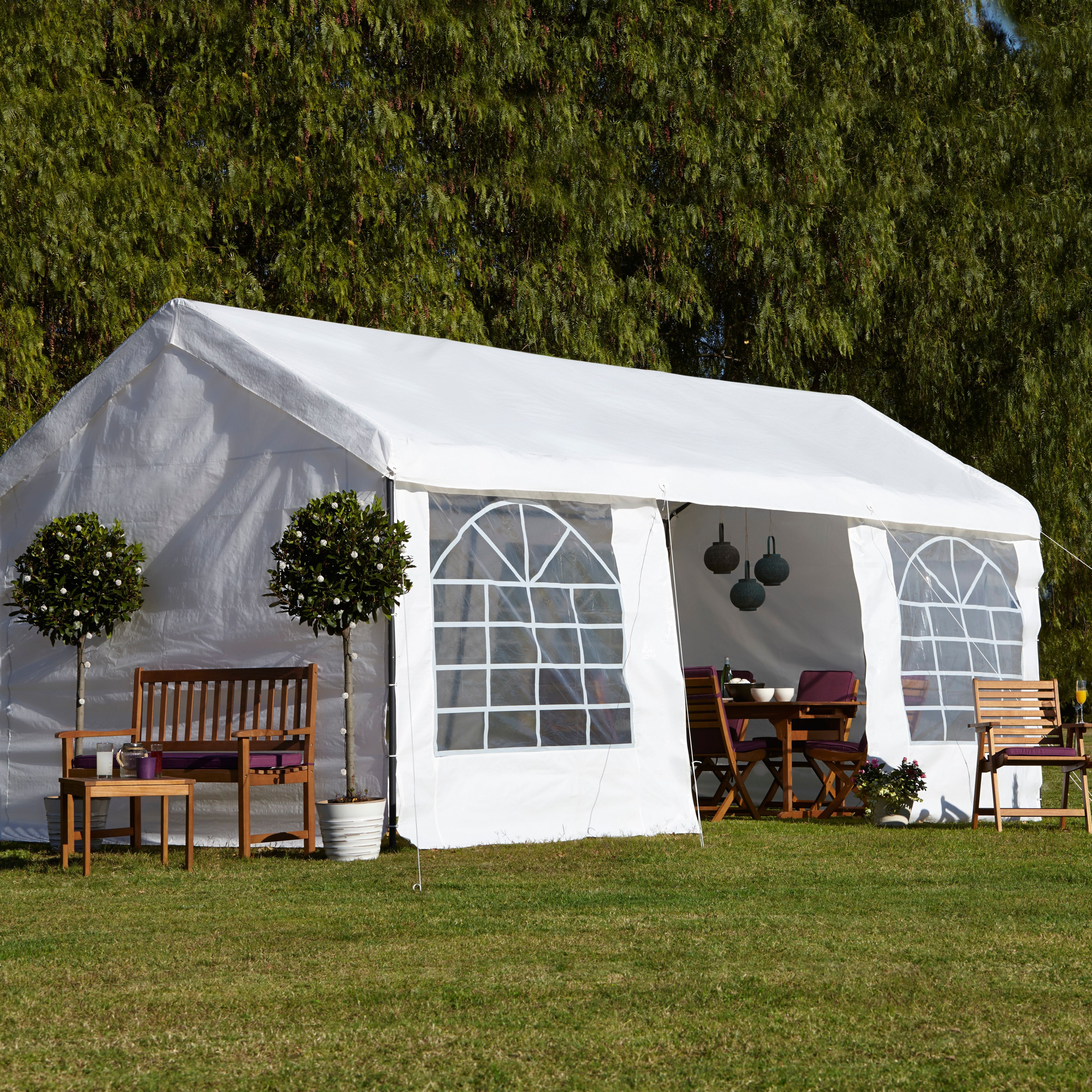 Blooma Betty White Garden Party Gazebo Departments Diy At
