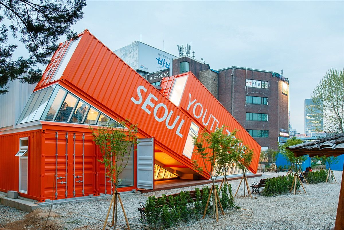 Container Haus Wohnen Seoul Youth Zone Thinktree Architects And Partners