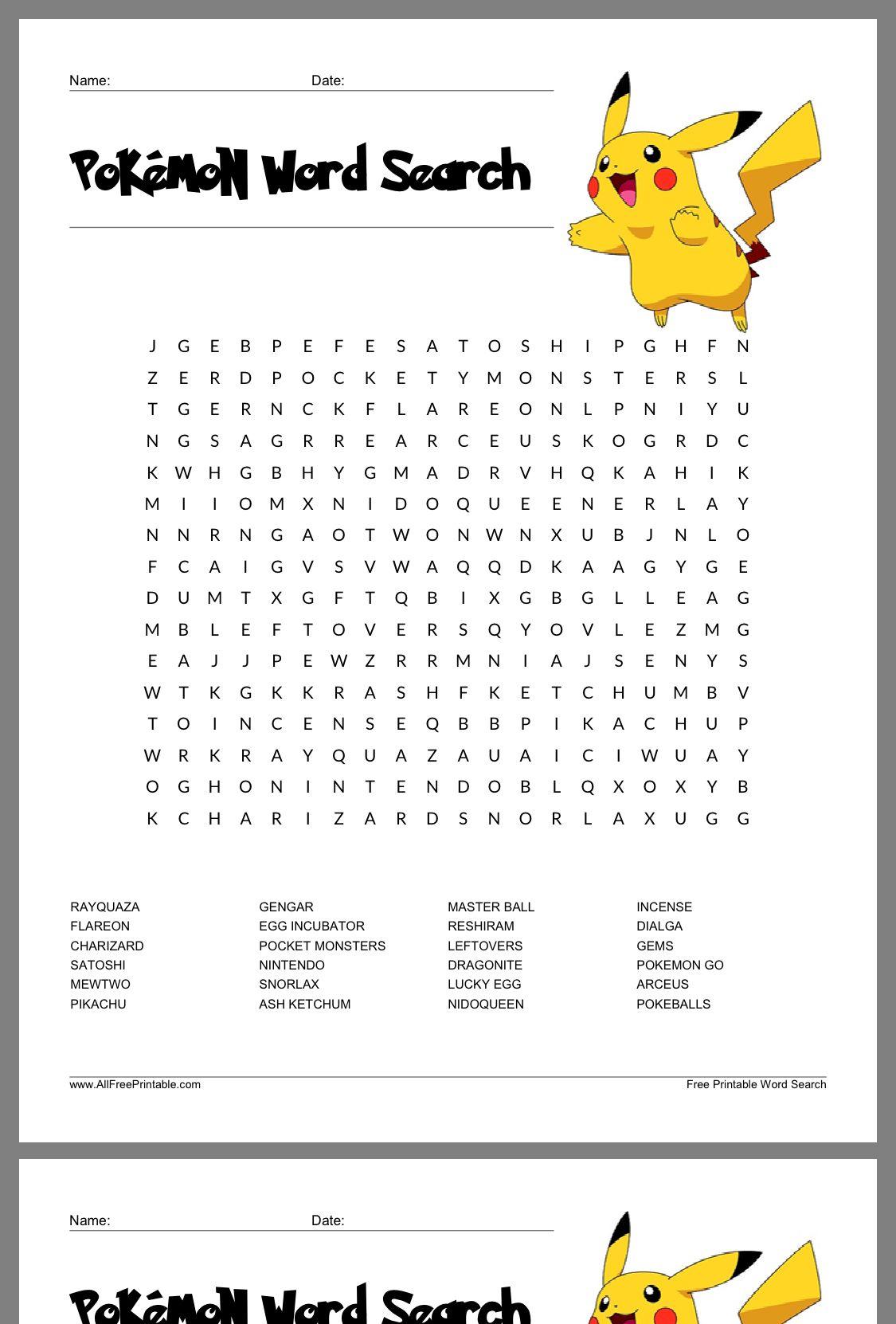 Pin By Anita Morgan On Pokemon Childrens Word Search Pikachu Coloring Page Pokemon Coloring [ 1662 x 1125 Pixel ]