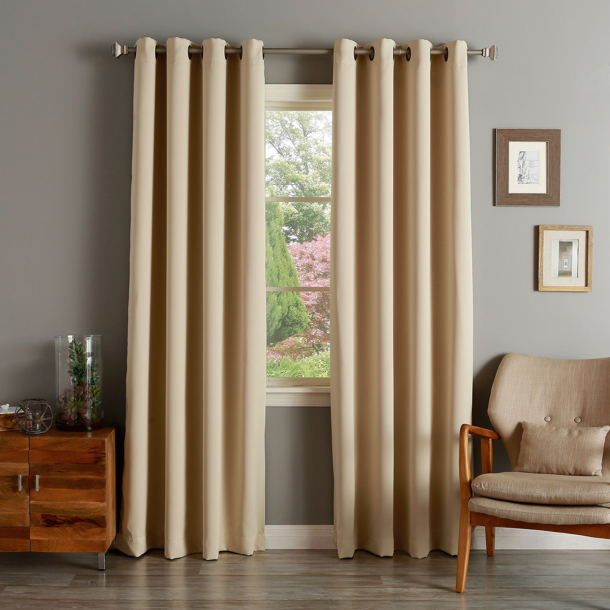 Aurora Home Solid Grommet Top Thermal Insulated 108 Inch Blackout