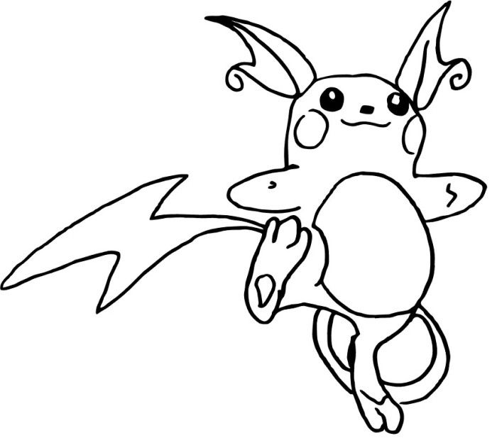 Raichu Pokemon Coloring Pages Pokemon Coloring Pages