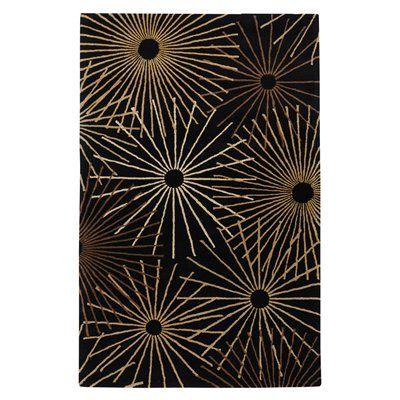 Surya FM7090 Forum Area Rug, Black