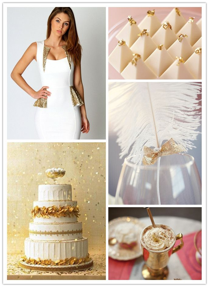 White & Gold Party Inspiration