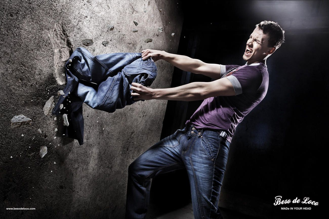 Poster design jeans - The Metaphor In This Poster Design Tells The Potential Buyers Of Jeans Who Is Looking For