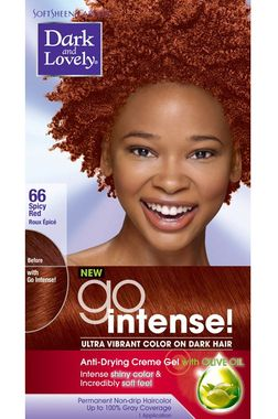 Dark And Lovely Go Intense Hair Color 66 Spicy Red Black Hair