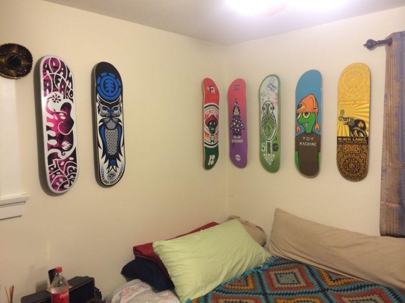 skateboard wall mounts for your bedroom #skateboarddisplay ...