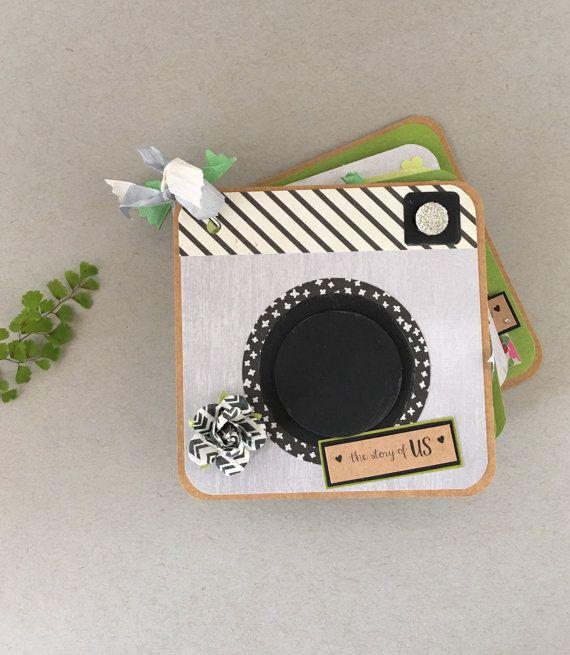 Love Mini Photo Album, Camera Shaped, Anniversary Photo Album, Scrapbook Family…