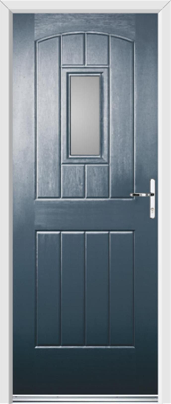 Cottage Style Exterior Doors   Doors English Cottage Clear Glazed  Anthracite Grey   UPVC Front Doors