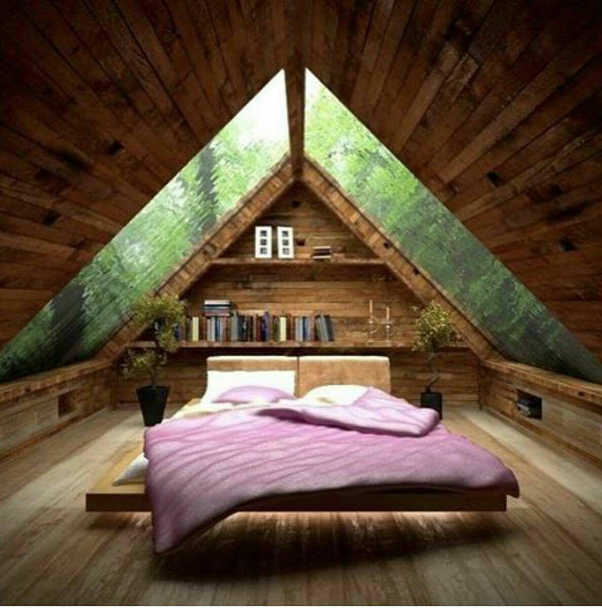 Best Pin By Naomi Dozier On Tiny House Design Attic Bedroom 640 x 480