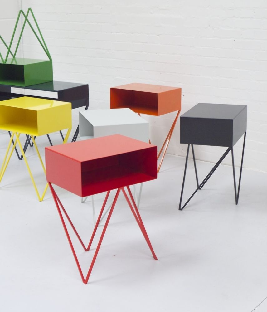 The Robot Steel Side Table Features An Open Shelf On Zig