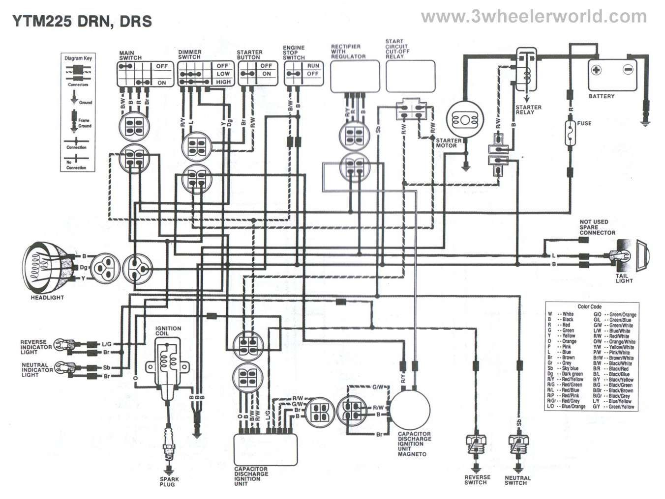 17 Yamaha Rs 100 Motorcycle Wiring Diagram