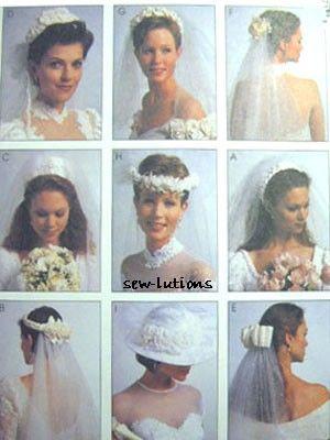 BRIDAL VEIL Sewing Pattern - Wedding Veils and Headpieces - OOP ...