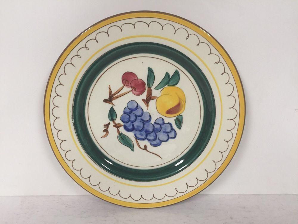 Stangl Pottery Fruit Pattern 10\  Plate & Stangl Pottery Fruit Pattern 10\