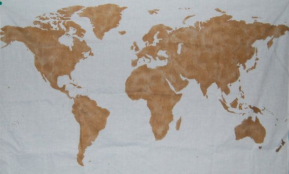 World map wall tapestry in gold espacios world map wall tapestry in gold by bumsteerstudios on etsy 2000 gumiabroncs Images