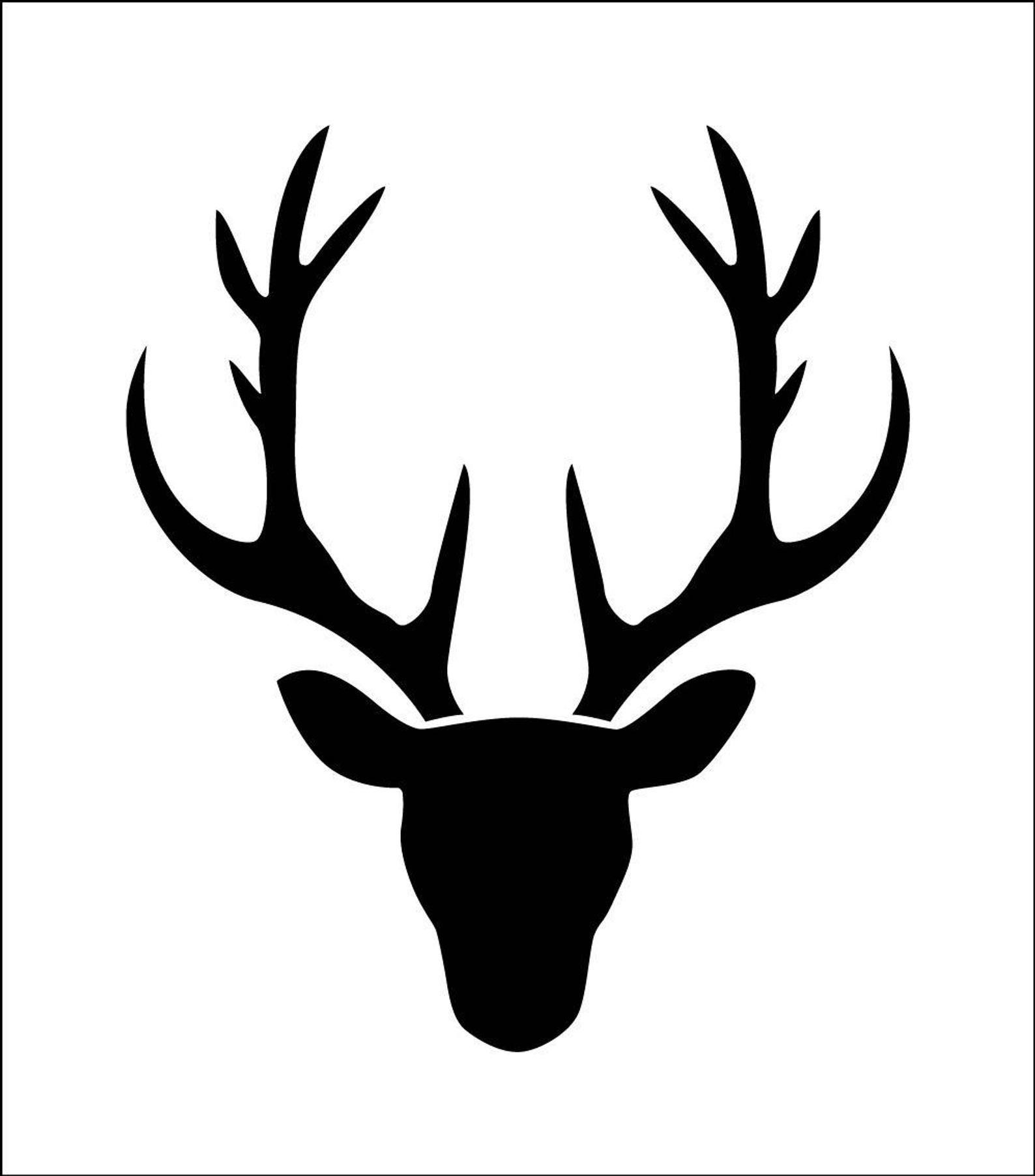 Cerf Silhouette De Tete De Cerf Petit Pochoir En Vinyle Etsy Deer Head Silhouette Deer Silhouette Deer Head