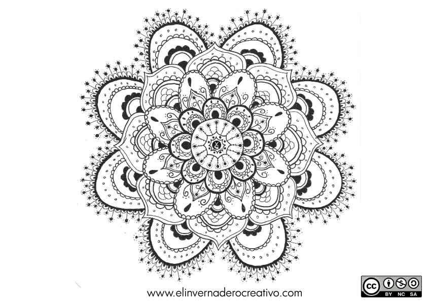 Suculenta. Mandala para colorear de El Invernadero Creativo bajo ...