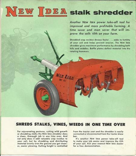 New Idea Stalk Shredder Ad Farm Machinery Old Tractors Vintage