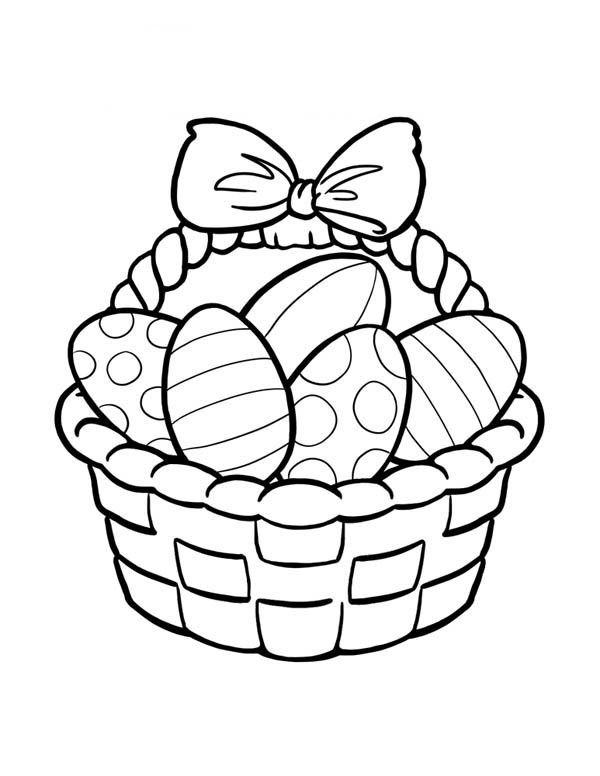 Easter Egg Clipart Black And White Coloring Pages 1