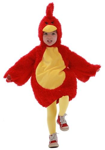 Toddler Red Grumpy Bird Costume - Video Game Character Costumes