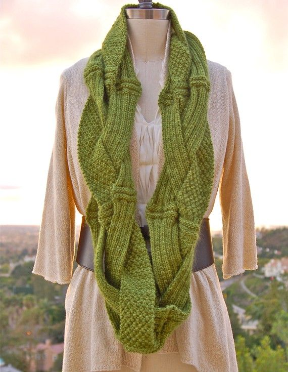 Challah Infinity Scarf PDF Knitting Pattern Instant Download ...
