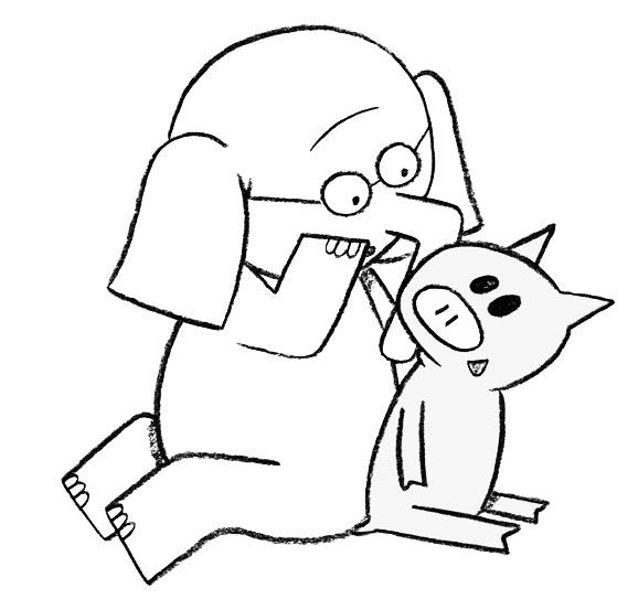 Elephant And Piggie Coloring Page Mo Willems Piggie And Elephant Coloring Pages