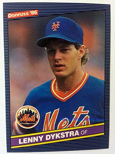 1986 Donruss Lenny Dykstra Baseball Card 1986 Donruss