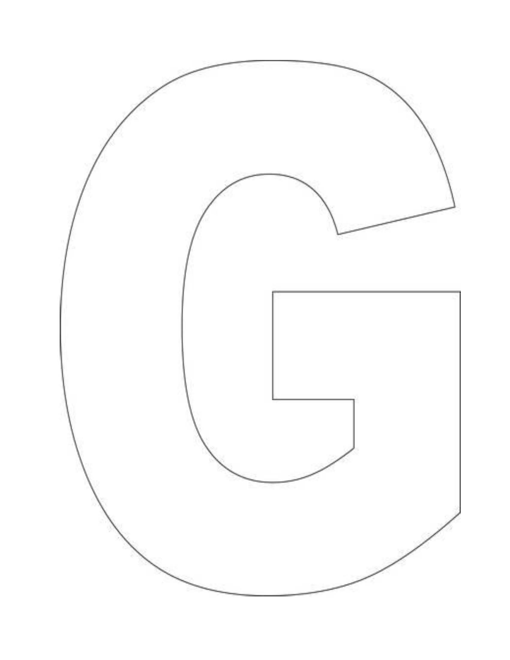 Alphabet G Coloring Pages Is Free Hd Wallpaper Alphabet G