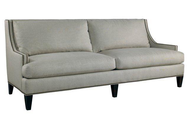 Strange Royce 87 Linen Sofa Beige Lilian August Fine Furniture Creativecarmelina Interior Chair Design Creativecarmelinacom