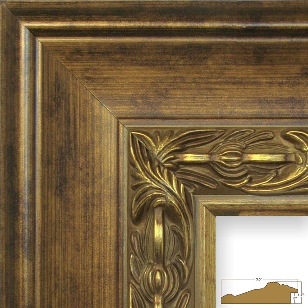 """Craig Frames 3.5/"""" Wide Ornate Gotham Black Wood Picture Frames /& Poster Frames"""