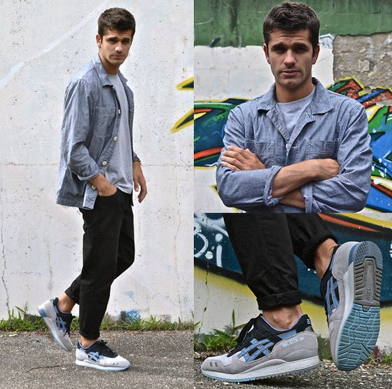 Get this look: http://lb.nu/look/6360500  More looks by Boris Cornilleau: http://lb.nu/boras  Items in this look:  Cos Work Overshirt, Norse Projects Niels Tee, Carhartt Tapered Jeans, Asics Gl3 Captain Blue Sneakers   #sneakers #camo #streetwear