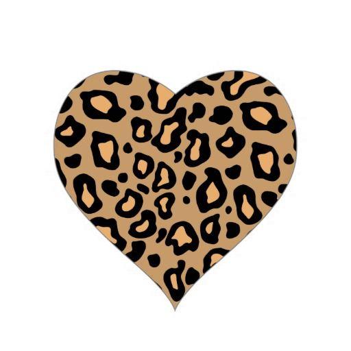 Leopard Animal Print Heart Stickers Zazzle Com In 2021 Leopard Print Tattoos Heart Stickers Animal Print Wallpaper
