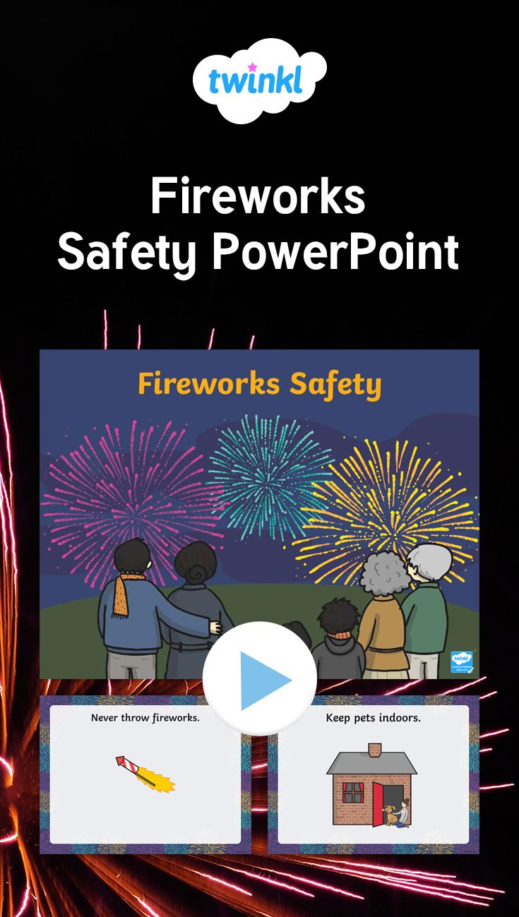This PowerPoint discusses some simple rules for firework