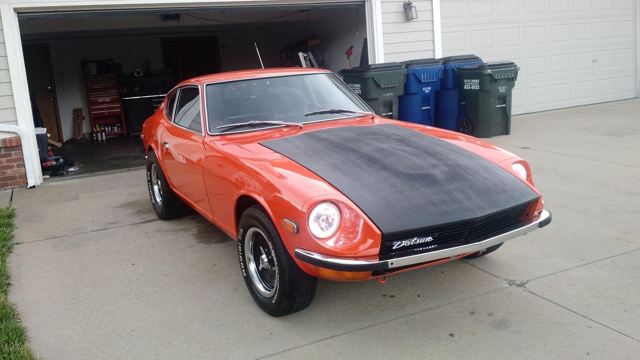 Old-school Datsun 240 Z orange and black | Motor Vehicles cars ...