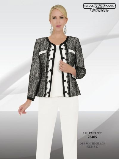 a051a9c0558 Ben Marc 78405 Stacy Adams Womens Pant Suit - French Novelty I d like this  more over black pants