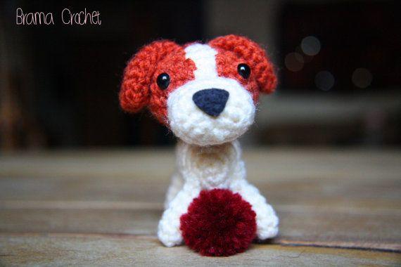 Amigurumi Jack Russell Pattern : Jack russell terrier kawaii amigurumi doll · handmade crochet toy
