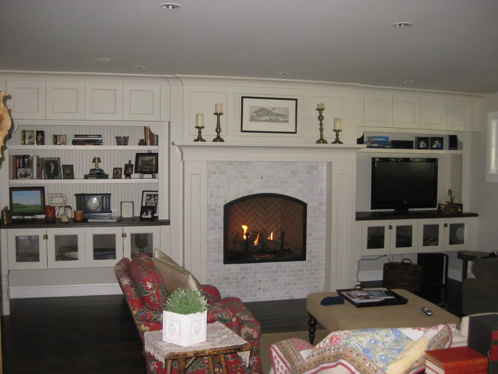 Fireplace Raised Hearth. Raised hearth or floor level for LR fireplace  Fireplace No